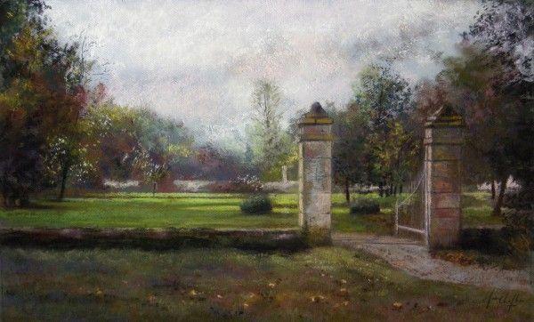 l entree du jardin du chateau de thoix